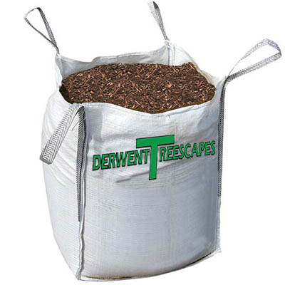 Wood chip mulch 3 qtr cubic metre builders bag for Compost soil bags